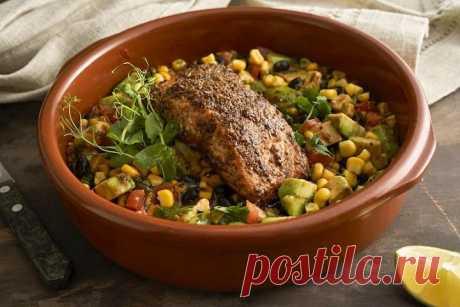 Жареный лосось с овощами – пошаговый рецепт с фото.