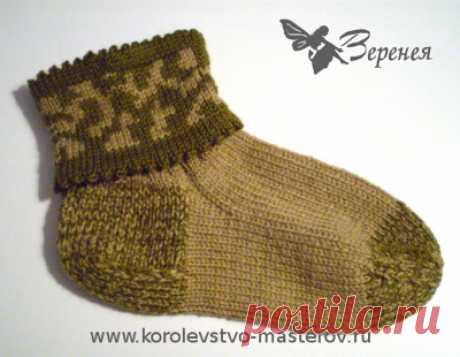"""Носки мужские вязаные """"Защитник"""" - подарок мужчине на 23 февраля. Носки спицами."""