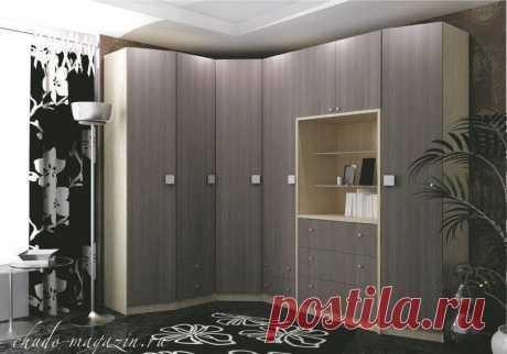 Угловой шкаф гардеробная в спальню: на заказ, фото, материал ЛДСП шпон