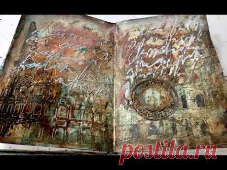 Art Journaling with Image Transfer and Inks