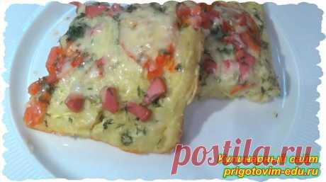 Пицца из кабачков с помидорами. | Простые пошаговые фото рецепты | Яндекс Дзен