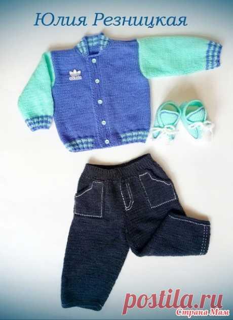 """Бомбер """"Адидас"""" для малыша 6-9 месяцев - Вязание для детей - Страна Мам"""