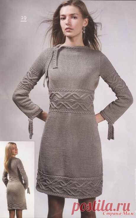 """Вяжем """"Эффектное серое платье"""" онлайн - Вяжем вместе он-лайн - Страна Мам"""
