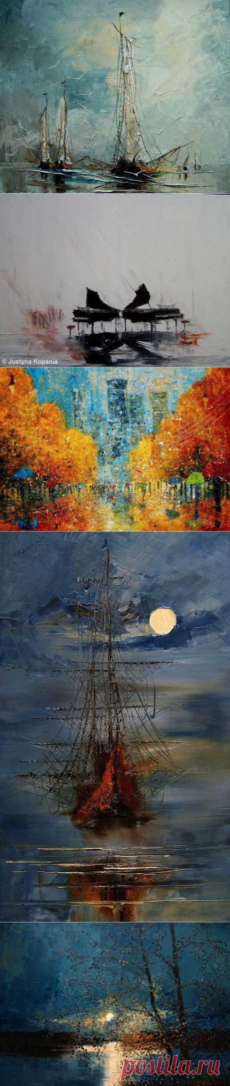 Невероятные пейзажи в работах художницы Юстины Копаня