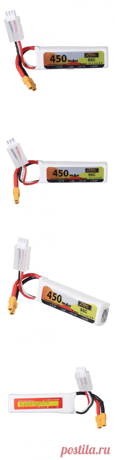 zop power 7.4v 450mah 95c 2s lipo battery xt30 plug for micro fpv racing drone quadcopter Sale - Banggood.com