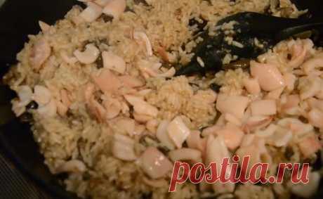 Ризотто с кальмарами - вкуснейшее блюдо для всей семьи на ужин! | Готовим рецепты | Яндекс Дзен