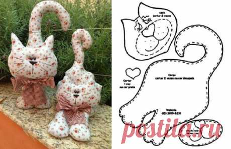 Мартовские коты! Схемы и выкройки.Для весеннего декора! Если у вас аллергия на кошек-это лучший вариант!