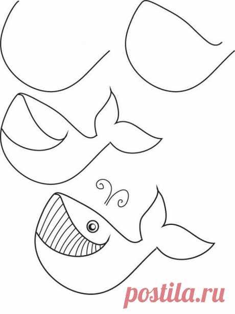 Рисуем с детьми морских обитателей Рисуем с детьми морских обитателейРисуем с детьми морских обитателей и развиваем точность координации движений и пространственное мышление ребенка.