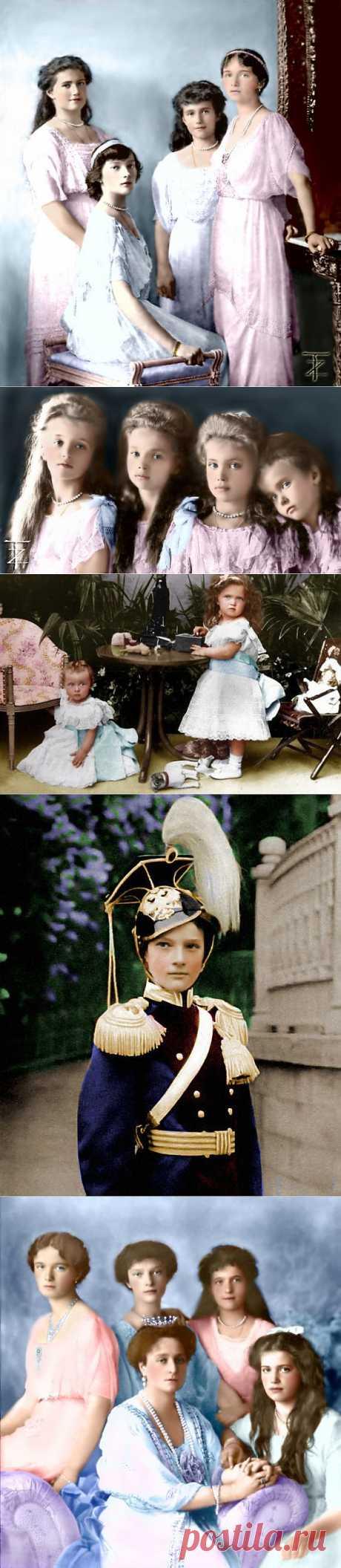 Дети семьи Романовых.