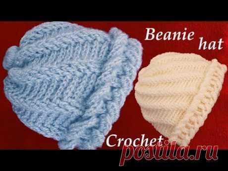 aprende hacer un gorro tejido con Gancho Crochet de argollas gruesas