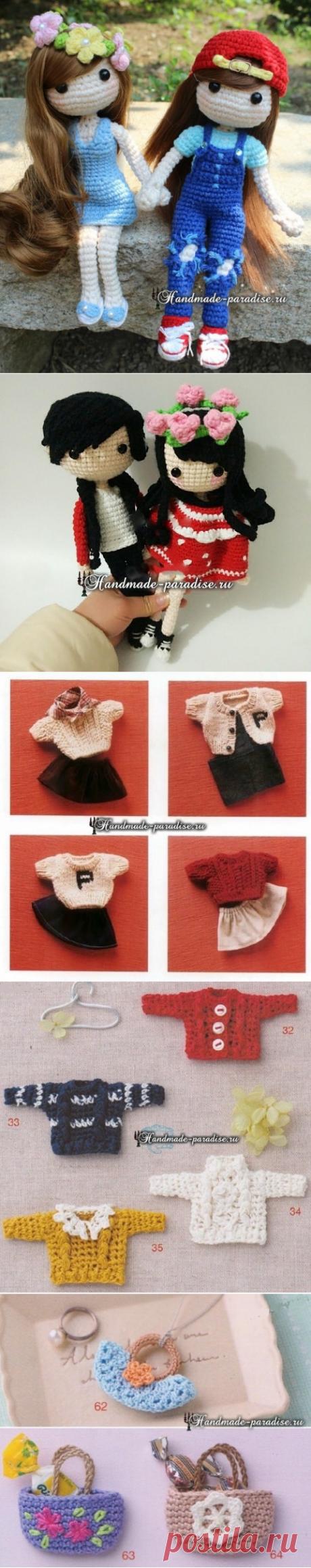 Вязаная мода для кукол амигуруми. Схемы - Handmade-Paradise