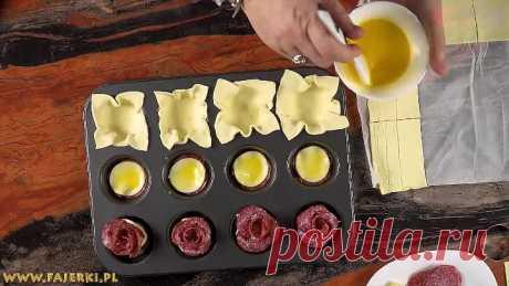 Изысканные и вкусные закуски из слоеного теста