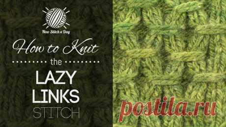 How to Knit the Lazy Links Stitch NewStitchaDay.com