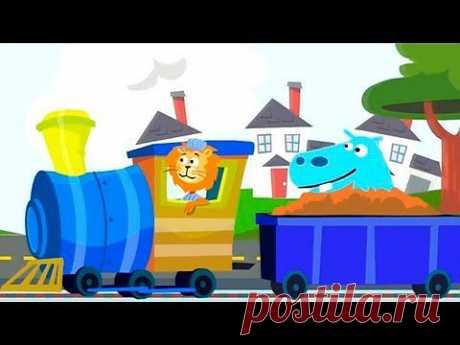 ▶ Развивающие Мультики - паровозик в зоопарке - учимся считать до 5 - обзор детского приложения Zoo Train - YouTube