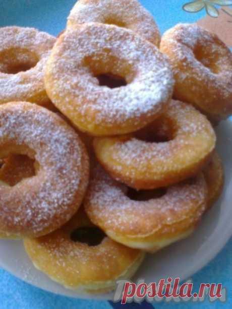 Творожные пончики-колечки - 11 пошаговых фото в рецепте