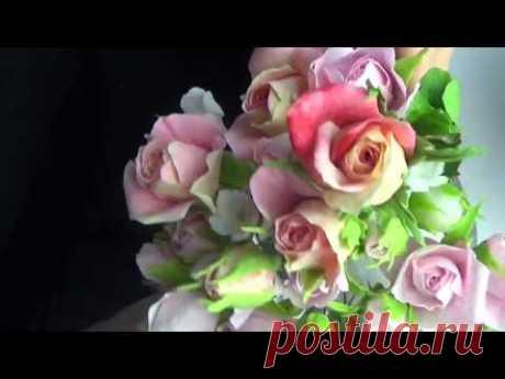 Бутончики Розы из ХФ  в разных вариациях от Риты. Rose buds of cold porcelain by Rita