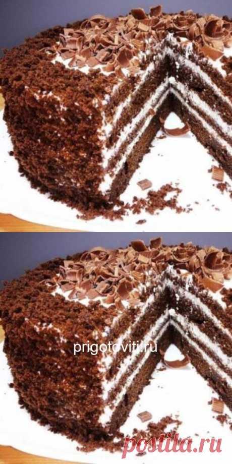 """Это очень вкусно, а как легко приготовить! Тортик """"Черный принц"""".⠀ - Все своими руками"""
