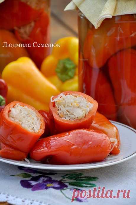 Перцы, фаршированные капустой - Рецепты от ХорошоГотовим.Ру