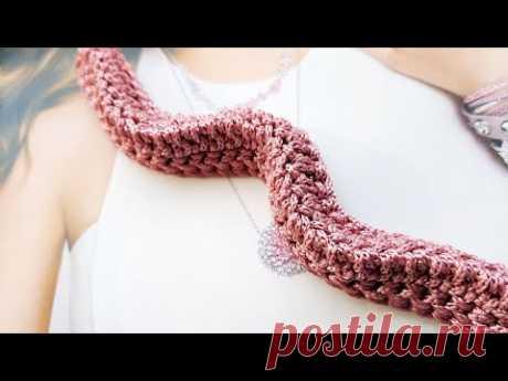 Бомбическая идея вязания трёхгранного жгута крючком 👍 crochet pattern.