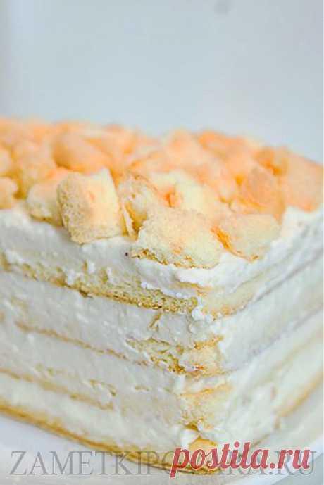 Легкий творожный тортик.