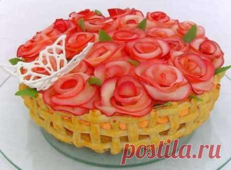 "Торт ""Миллион алых роз"" #торт #миллионалызроз #выпечка #десерт #рецептсфото"