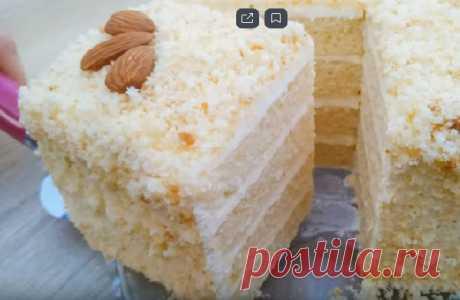 Торт за 30 минут без весов и хлопот! Приготовить может каждый!