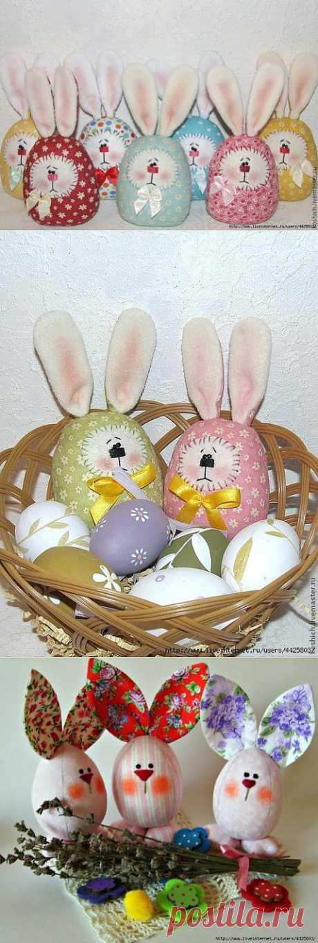 Шьем пасхальных яйца-зайцев. Мастер-класс..