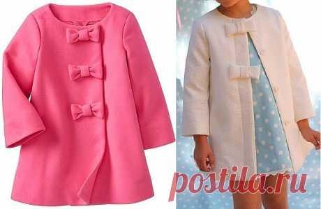Выкройка детского летнего пальто для девочки на возраст от 1 года до 14 лет #детские_выкройки@portnishka