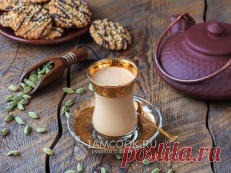 Готовим ароматный, пряный чай с молоком и кардамоном, по традиционному индийскому рецепту.