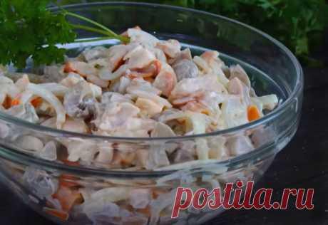 Вкусный салат за несколько минут. Готовится всего из трех ингредиентов!