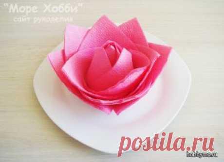 Цветок из салфеток для сервировки стола (мастер-класс)   Море хобби - мастер-классы по рукоделию и не только!