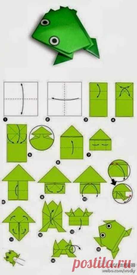 Искусство оригами с детьми — Поделки с детьми