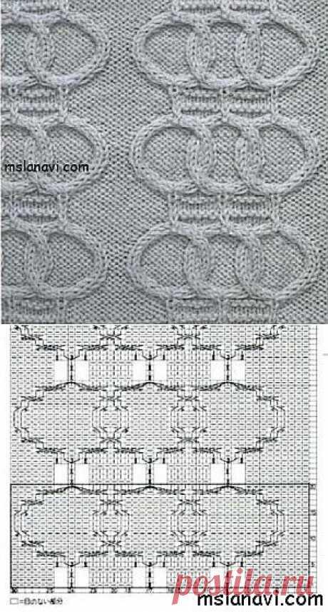 Рельефный узор спицами №42 | Вяжем с Ланой