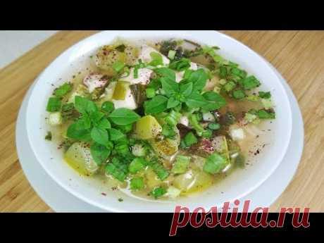 Как приготовить очень вкусный Суп из кабачков. Густой Суп с кабачками и курицей. - YouTube
