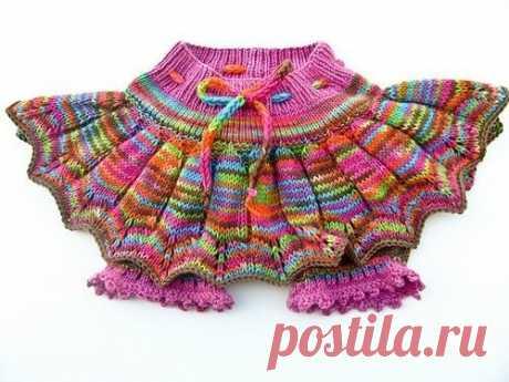 Детская юбка спицами схема описание. Вязание спицами детская юбочка | Домоводство для всей семьи.