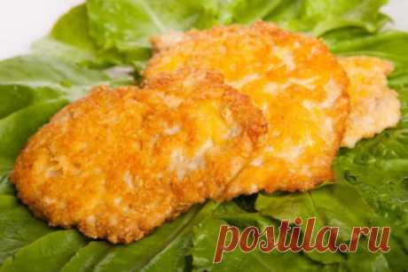 Куриные отбивные с сырной корочкой - Мясные блюда