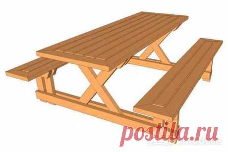 Стол для пикника на даче