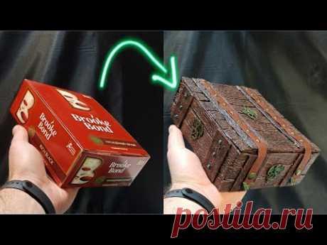 Шкатулка из чайной коробки. Своими руками / Loretz from the tea box / DIY