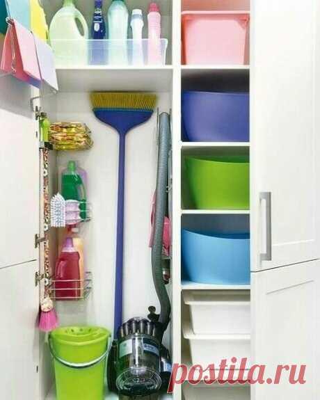 Идеи для хранения тазиков и всего, что связанно с уборкой и стиркой - Своими руками! - медиаплатформа МирТесен