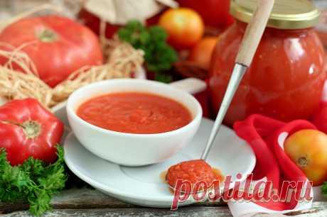 Томатный соус в домашних условиях, рецепт на зиму