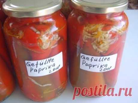 Болгарский перец фаршированный капустой