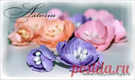 Цветы из бумаги 1