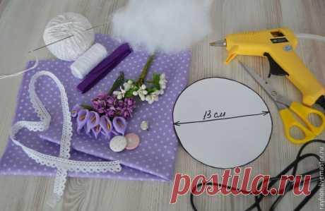 Подарок к 8 Марта: шьем симпатичную игольницу своими руками - Ярмарка Мастеров - ручная работа, handmade