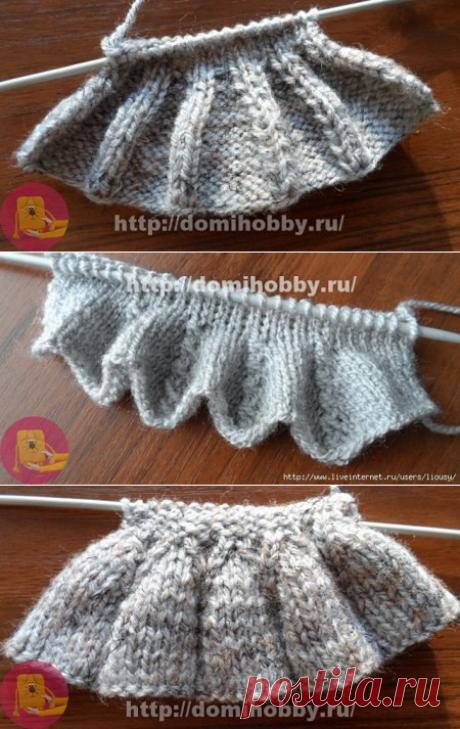 Вязание рюши спицами — Сделай сам, идеи для творчества - DIY Ideas