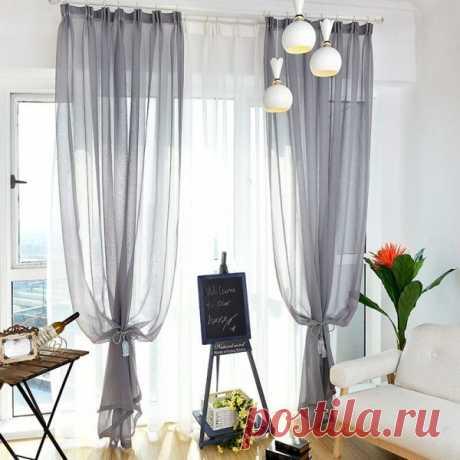Оформляем окна тюлем самостоятельно: делаем комнату более изящной