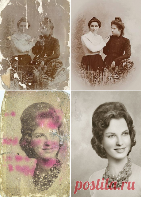 El Photoshop crea los milagros: 20 retro de las fotografías es magistral restablecido de las forografías viejas