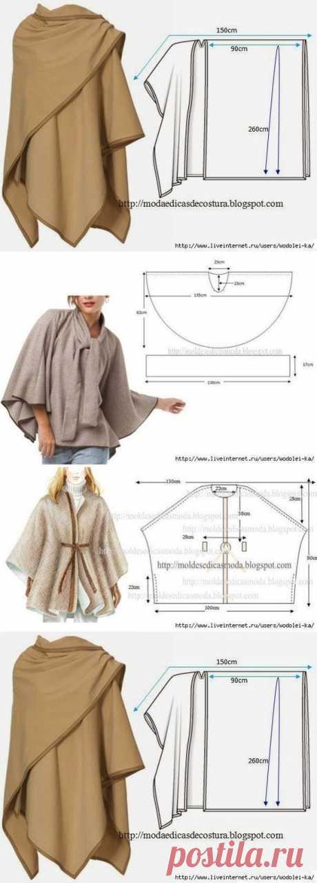 15 стильных пальто и пончо с выкройками: чтобы всегда быть в тренде (Шитье и крой) – Журнал Вдохновение Рукодельницы