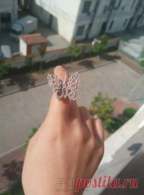 Бабочка, макраме