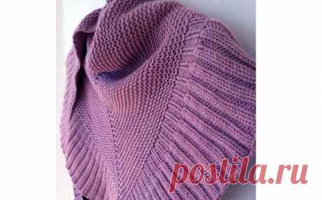 "Knitted spokes shawl of \""Mar\"". Description"