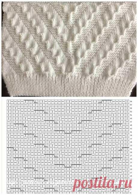 Эффектные объёмные узоры спицами. 17 красивых схем в копилку рукодельнице | Факультет рукоделия | Яндекс Дзен